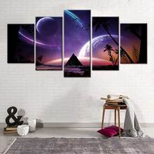Modern Nordic 5 Pieces canvas painting Picture Print Outer Space Starry sky Home Decorative Wall Poster for Living Room Decor