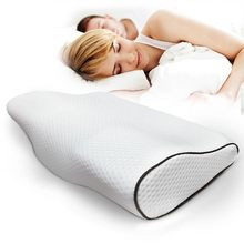 低反発枕寝具睡眠旅行保護ネックスローリバウンド圧力繊維整形外科マッサージ頚椎ヘルスケア