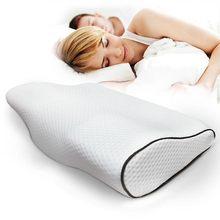 Travesseiro de espuma para dormir, travesseiro ortopédico para cuidados de saúde, proteção do pescoço, fibra com memória de retorno lenta, massageador ortopédico