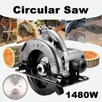 1480W Electric Corded Circular Saw Wood Cutting Tool Multi function Cutting Machine Woodworking DIY Model Household Circular Saw