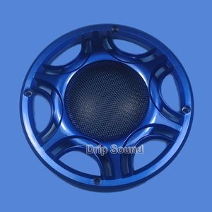 """Image 3 - Für 6,5 """"zoll Auto Audio Lautsprecher Umwandlung Net Abdeckung Subwoofer Dekorative Kreis Metall Mesh Grille 165mm # Blau"""
