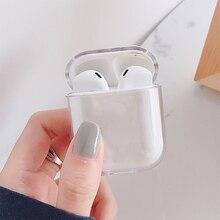 Transparante Cases Voor Airpods Gevallen Bluetooth Draadloze Oortelefoon Beschermhoes Voor Airpods 2 1 Pc Clear Hard Case Shell