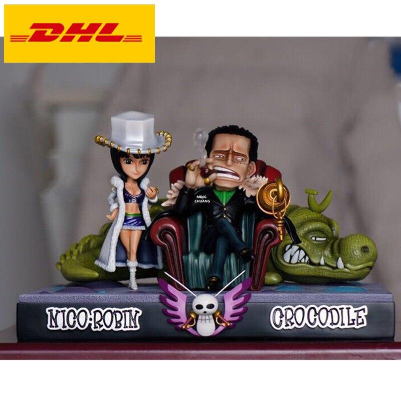 8 Цельная статуя соломенная шляпа Пираты бюст сэр Крокодил полноразмерный портрет Нико. Робин анимационная фигурка GK игрушечная коробка 20