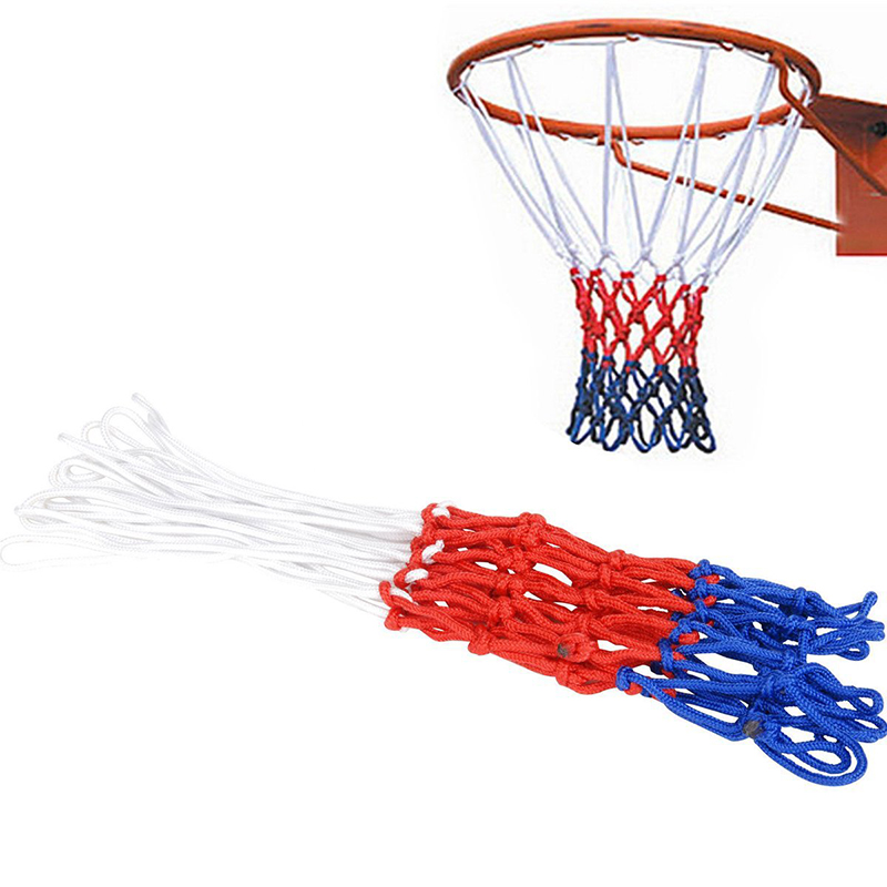 Прочная нейлоновая толстая нить три цвета универсальная баскетбольная сетка Замена-0