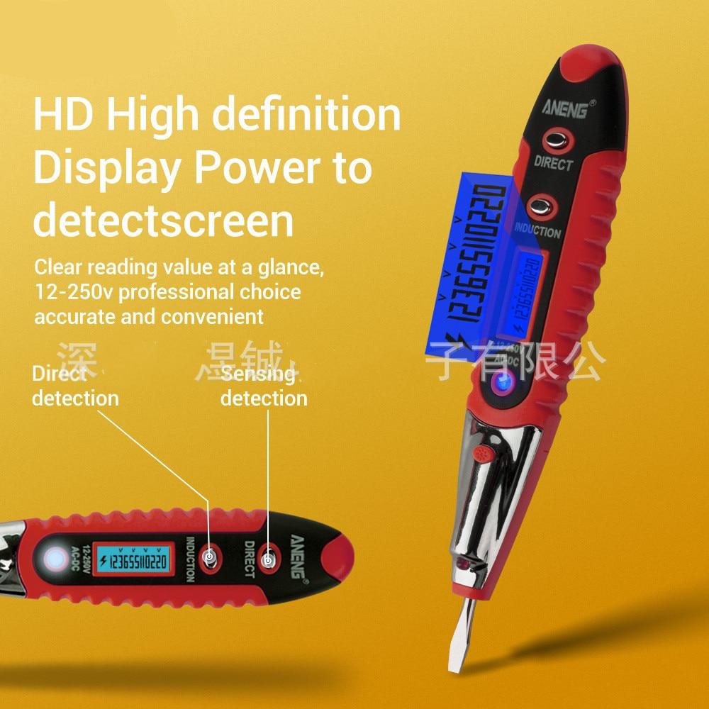 12V-250V AC//Dc Digital LCD Induktion Test Bleistift Spannung Tester Detektor