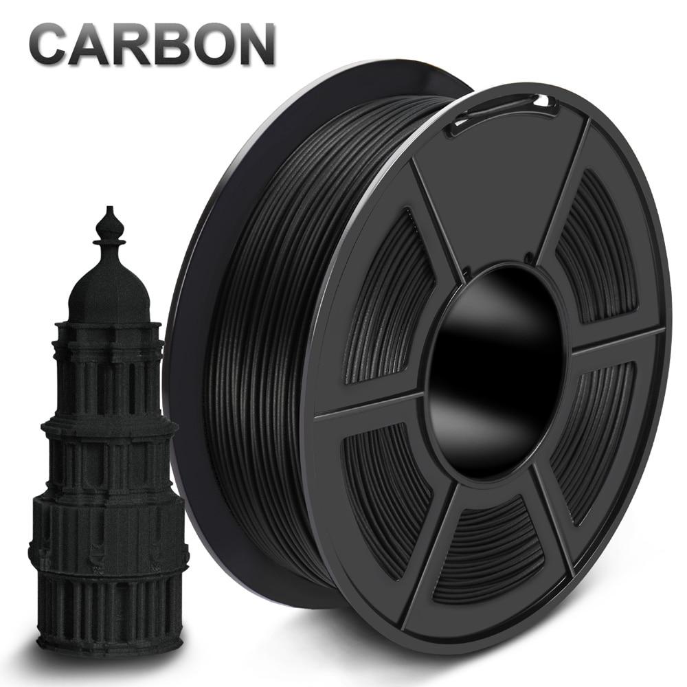 PLA Carbon Fiber Filament Fast Delivery 1 75mm 1kg 100 no bubble 3D Printer Filament 1KG