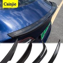 Real Carbon Fiber Rear Trunk Spoiler For Tesla Model 3 2017- 2020 2021 Accessories Trunk Lip Wing Spoiler Car Styling