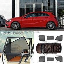 Автомобильный полноразмерный Магнитный солнцезащитный козырек от солнца с защитой от ультрафиолетовых лучей, сетчатый козырек для Mercedes Benz A Class