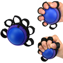 Finger Hand Grip Muscle Power Training Rubber Ball Hand Arm Waist Finger Expander Rehabilitation Exercise Fitness Gripping Ball anti spasticity ball fingers apart hand far infrared impairment finger orthosis vibration massage rehabilitation exercise