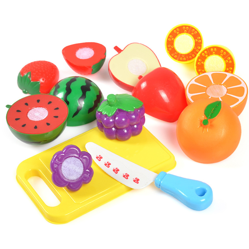 Kid Kitchen Set Toys Plastic Food Toy Cuting Vegetables Cuting Fruit Pastry Educational Pretend Play Safe Cute Girl Toys Gift image