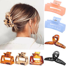 Hot new jewelry with acrylic resin grabbing clip square hair grabbing hair clip headdress fo female daily gifts wholesale