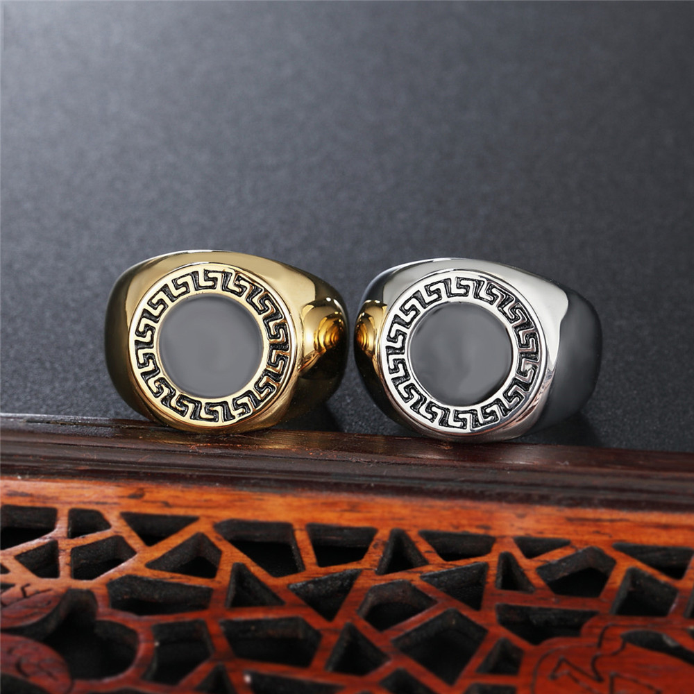 Vintage Fashion Jewelry Rings Titanium Steel Ring Jewel Retro Ring For Men And Women Free Shipping in Rings from Jewelry Accessories