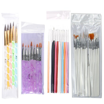 Nail Art Brush Set Manicure Tools Gradient Gel Nail Polish Builder Drawing Carving Ombre Brushes French Nail Design Painting Pen