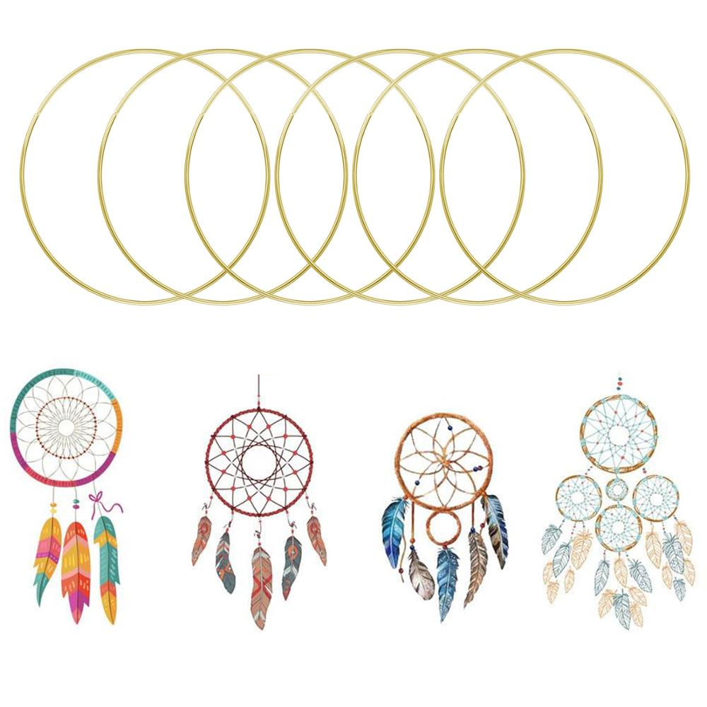 10pcs Assorted Sizes Metal Rings Hoops DIY Craft Supplies for Dream Catcher Dreamcatchers Wreaths Macrame Projects