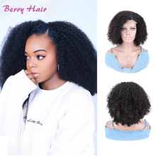 Afro kinky encaracolado perucas de cabelo humano remy brasileiro natural pré arrancado kinky encaracolado 250 densidade 4x4 fechamento do laço peruca para mulher