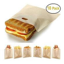 5/10 adet/takım yeniden tost çantası yapışmaz ekmek poşeti çanta fiberglas tost mikrodalga isıtma pasta araçları ücretsiz kargo