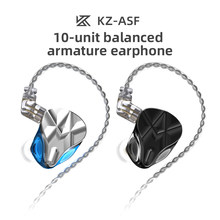 KZ ASF 10BA Units In Ear Earphone HIFI Bass Monitor Balanced Armature Earphones Noise Cancelling Earbuds Sport Headset