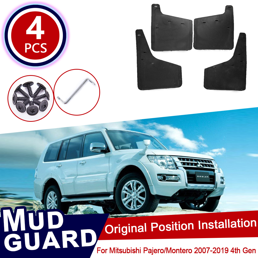 For Mitsubishi Pajero Montero 2007~2019 Mudflaps Mud Flap Splash Guards Car Wheel Fender Front Rear Accessories 2011 2012 2013