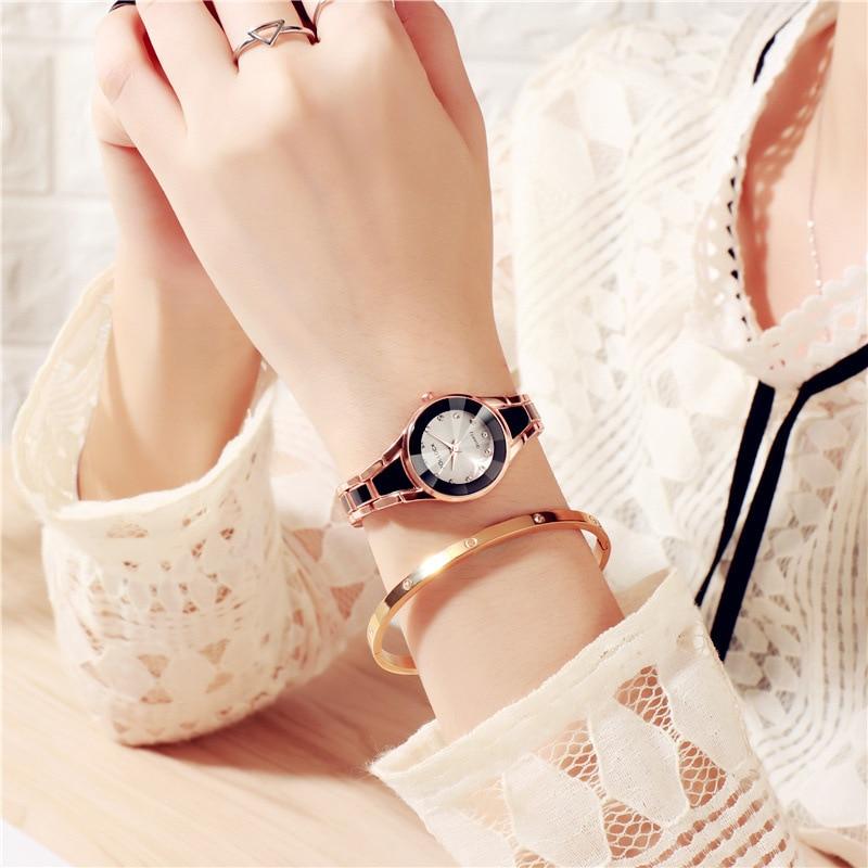 New Fashion 2019 Luxury Rhinestone Watches Women Stainless Steel Quartz Bracelet Watch Ladies Dress Watches Gold Clock Relogios