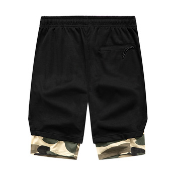 Summer Shorts Men New Style Camouflage Contrast Color Shorts Breathable Casual Sports Loose-Fit Mens Shorts 2