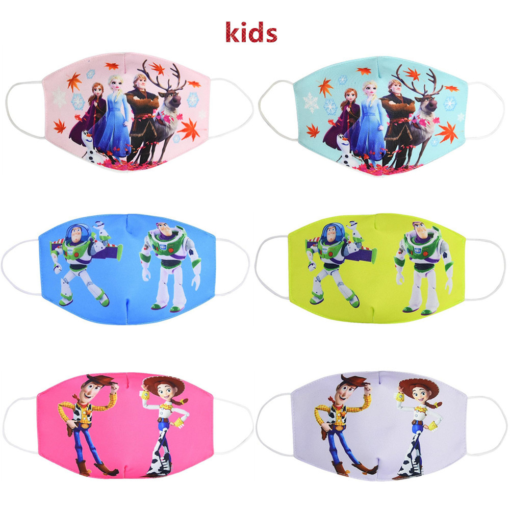Противопылевая маска для рта многоразовая дышащая хлопковая Защитная детская игрушка мультяшная Милая маска для лица с защитой от пыли PM2.5
