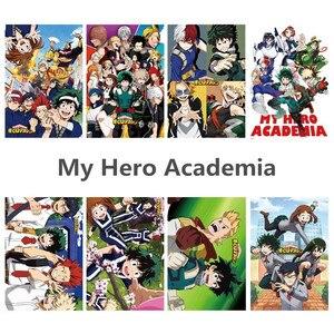 8 шт./компл., аниме, мой герой, академический плакат, наклейки на стену, Постер, аниме вокруг фанатов, подарок, украшение для дома
