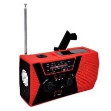 цена на 5 in 1 Outdoor Portable Solar Crank AM FM Radio for Emergency Radio SOS Alarm Flashlight 2000MAh Power Bank and Reading Lamp