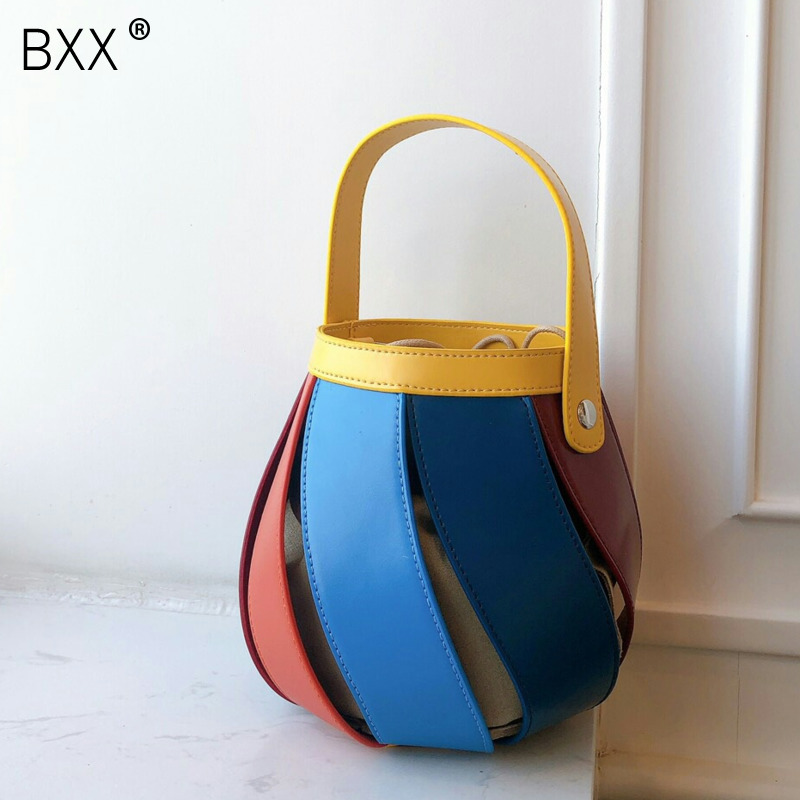 [BXX] 2020 Spring Luxury Brand Designer Shoulder Bag For Women Totes Crossbody Bucket Bag Women's Handbags Female Bags HK667
