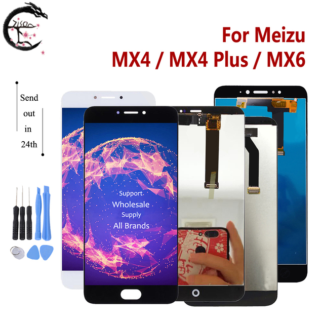 MX4 LCD For Meizu MX4 Plus MX6 LCD Display Touch Screen Sensor Digitizer Assembly Display MX4plus Display Replacement Tested OK