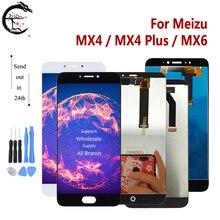 MX4 LCDสำหรับMeizu MX4 Plus MX6จอแสดงผลLCDเซ็นเซอร์หน้าจอสัมผัสDigitizer AssemblyจอแสดงผลMX4plusเปลี่ยนจอแสดงผลทดสอบOK