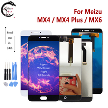 MX4 LCD לmeizu MX4 בתוספת MX6 LCD תצוגת מסך מגע חיישן Digitizer עצרת תצוגת MX4plus תצוגת החלפת נבדק בסדר