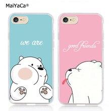 Ice bear мы лучшие друзья навсегда BFF силиконовый прозрачный чехол для iphone 11 pro max 5S se 6s plus 7 plus 8 plus XR XS MAX