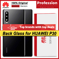 100% Original for Huawei P30 Back Battery Cover Rear Glass Door Panel Case Battery Cover with Camera Lens