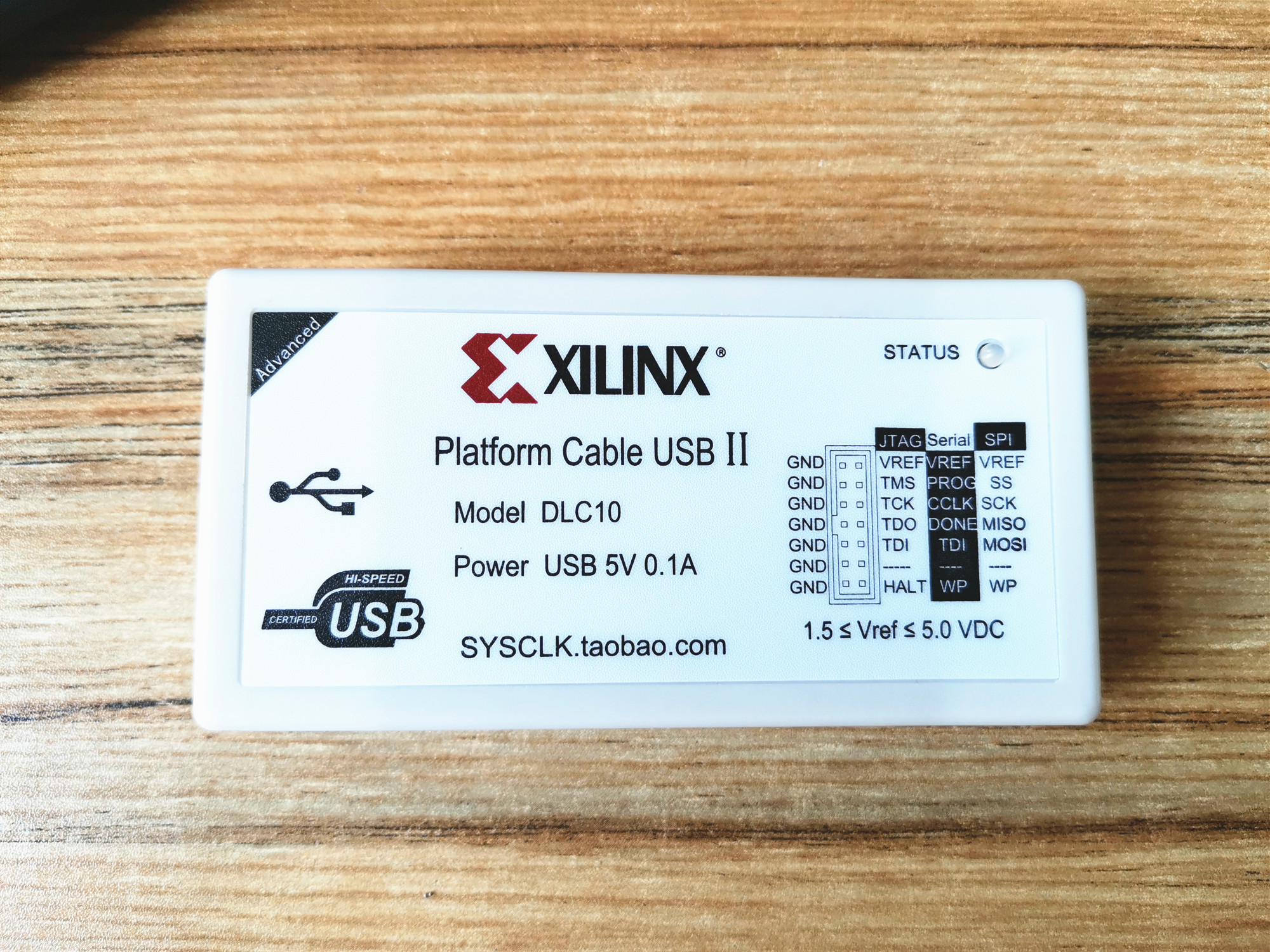 HW-USB-II-G DLC10 Xilinx Platform Cable II FPGA / CPLD Download Cable