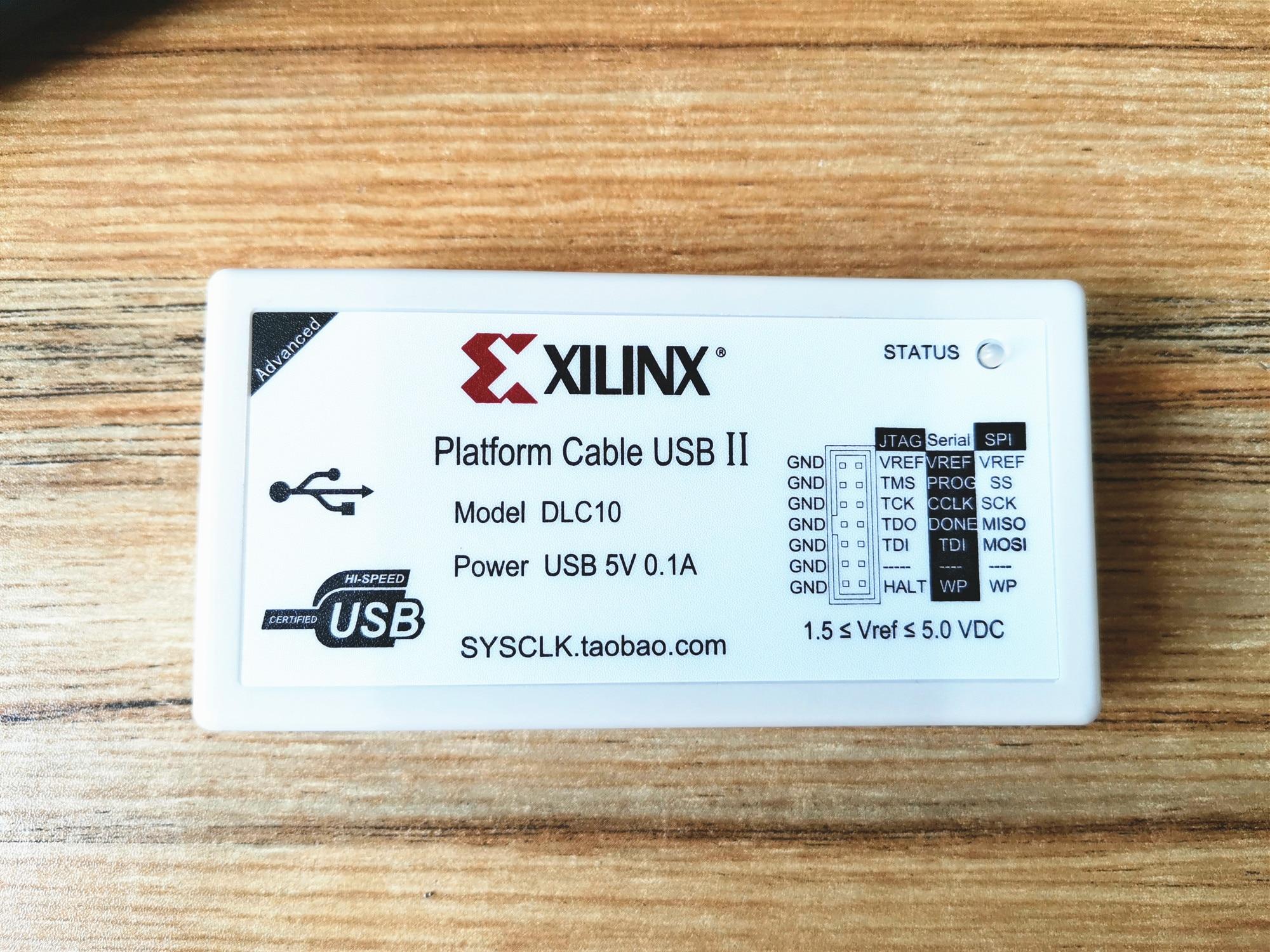 HW-USB-II-G DLC10 Xilinx Platform Cable II FPGA / CPLD Download Cable