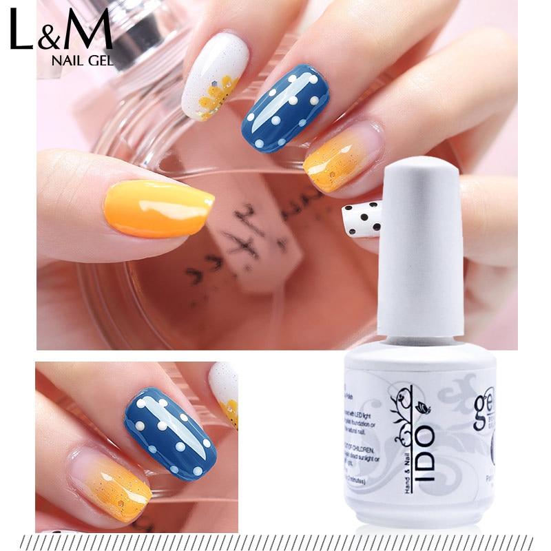 Гель лак для ногтей марки ido 15 мл 6 шт Бесплатная доставка