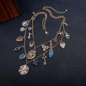 Lion pendant Sweater Chain, Also good looking on Shirts and Dress