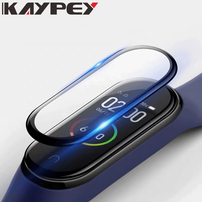 3D Film For Xiaomi Mi Band 4 Protector Soft Glass For Miband 4 Strap Mi Band Screen Protection Case Protective Smart Accessories