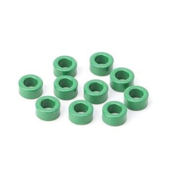 Bobinas inductoras de 10 uds, núcleos de ferrita Toroide verde, anillos de filtro antiinterferencia C90D 1