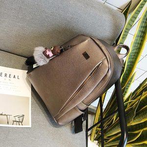 Image 5 - Модный золотой кожаный рюкзак, женская черная винтажная большая сумка для женщин, школьная сумка для девочек подростков, однотонные рюкзаки, mochila XA56H