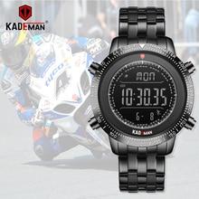 KADEMAN גברים שעון ספורט זכר LED דיגיטלי שעונים 3TAM מלא פלדת אופנה מלא פלדת שעוני יד למעלה מותג Relogio Masculino 849