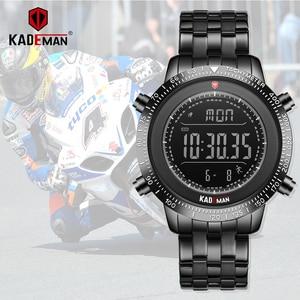Image 1 - KADEMAN Men Watch Sport Male LED Digital Watches 3TAM Full Steel Fashion Full Steel Wristwatches TOP Brand Relogio Masculino 849