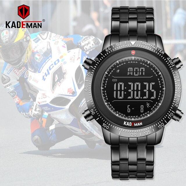 KADEMAN Men Watch Sport Male LED Digital Watches 3TAM Full Steel Fashion Full Steel Wristwatches TOP Brand Relogio Masculino 849