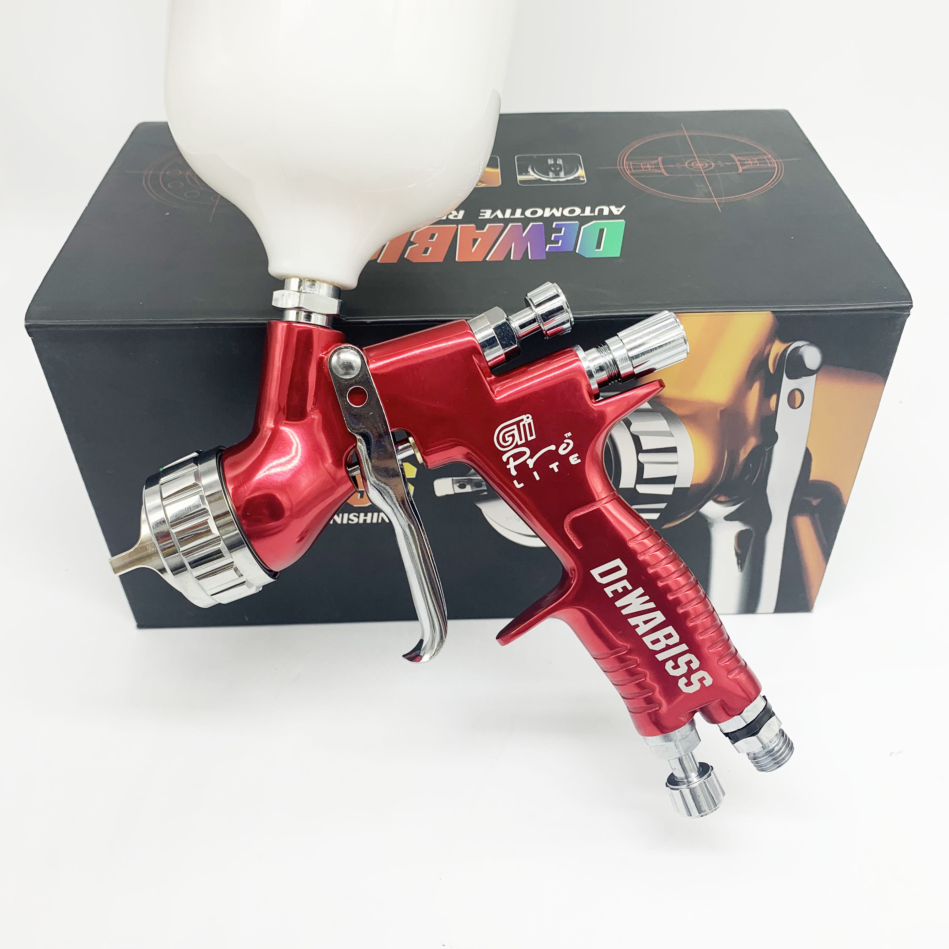 HV30 Spray Gun Gti Pro High Atomize 1.3mm HVLP Airless Spray Painting Car Paint Airbrush Tool  For Water Based Paint Sprayer