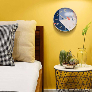 Image 5 - Youpin Yuihome Decor Wall Clock 30.5cm Mirror Glass Surface Art Geometric Patterns Home Mute Clock for Smart Home