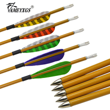 12pcs Archery Carbon Arrows Spine 900 Pure Carbon Arrow Shaft With Turkey Feathers For Outdoor Hunting Shooting Accessories 6 12pcs 30 spine 400 archery carbon arrows target flu flu arrows 4 turkey feathers broadhead for hunting shooting accessories