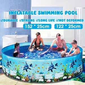 Kids Inflatable Pool Home-Use Bathing-Tub Round Children Lounge Family Summer 122/152cm