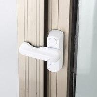 1pcs 플라스틱 철강 창 보안 잠금 버클 도난 방지 리미터 아연 합금 어린이 안전 문 및 창 잠금 하드웨어