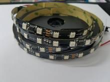 Tira de luces LED direccionable, 5 m/lote, 24V CC 2811 WS2811, 60 píxeles, RGB 5050, cinta IP30, IP67, pcb, negro blanco, 1 Ic, Control 6