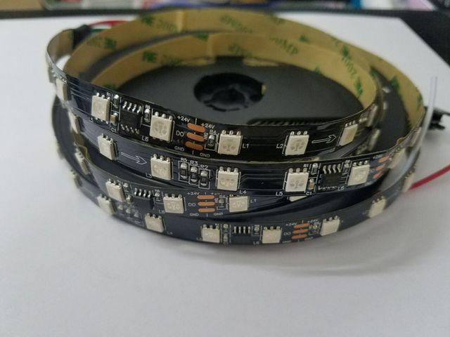 5m/lot 24V DC 2811 WS2811 Addressable 60leds pixel strip light Digital RGB 5050 Ribbon IP30 IP67 black white pcb 1 Ic Control 6